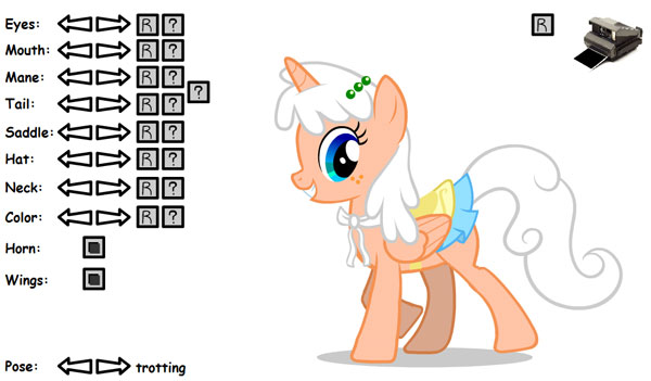 Создания пони для программу