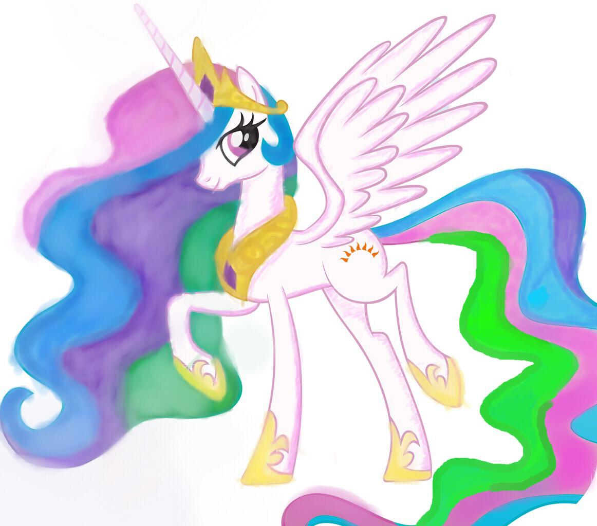 Принцесса селестия картинки как рисовать